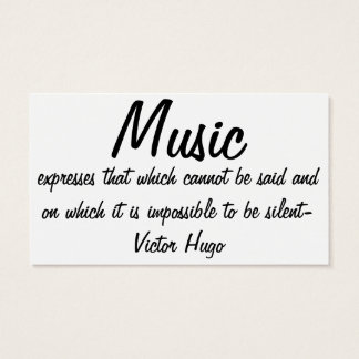 Music expresses... business card