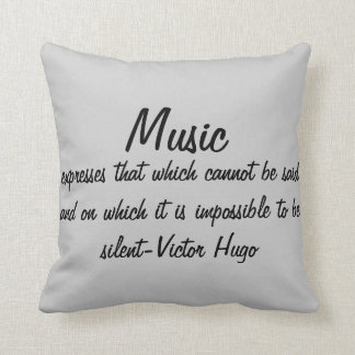 Music expresses... cushion