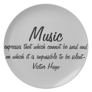 Music expresses... plate