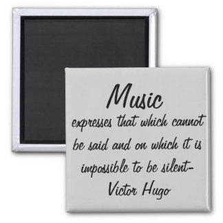 Music expresses... square magnet