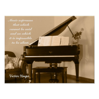 Music Expresses -- Victor Hugo quote - art print
