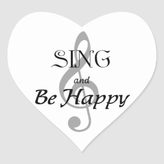 "Music Expressions ""SING and Be Happy"" Heart Sticker"