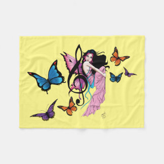 Music Fairy Fleece Blanket