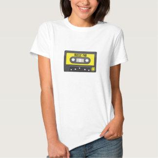 music fan cassette with rainbow tape shirt