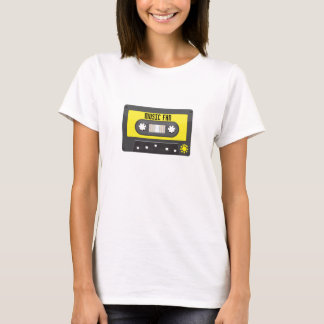 music fan cassette with rainbow tape shirt