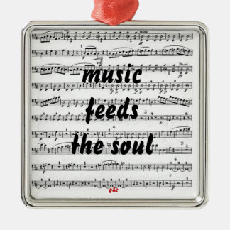 Music Feeds the Soul Christmas Ornament