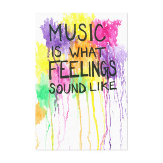 Music & Feelings Canvas Print
