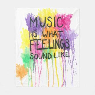 Music & Feelings Fleece Blanket