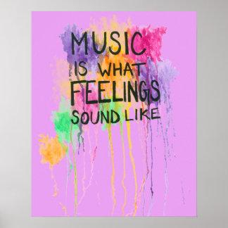 Music & Feelings Poster
