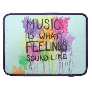 Music & Feelings Sleeve For MacBooks