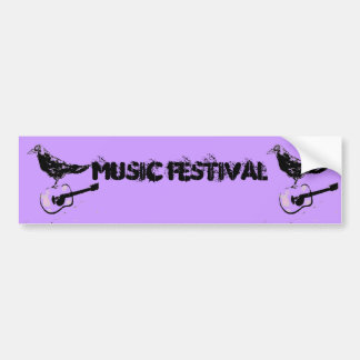 music festival art bumper sticker