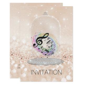 Music Festival Concert Nites Vip Champaign Glitter Card