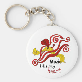 Music Fills My Heart Keychain