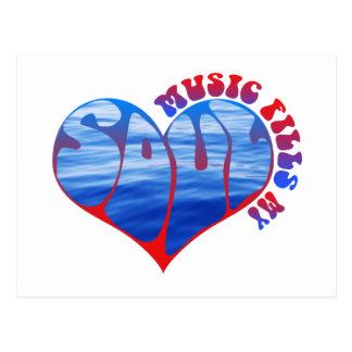 Music Fills My Soul Postcard