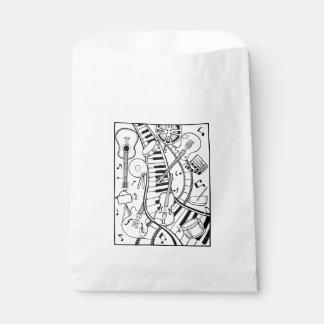 Music Film Festival Line Art Design Favour Bags
