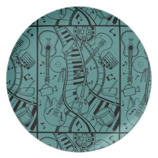 Music Film Festival Line Art Design Plate