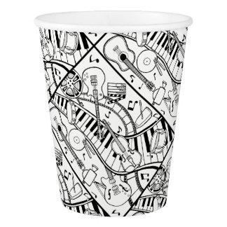 Music Film Festival Lineart Design Paper Cup