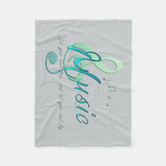 Music Fleece Blanket