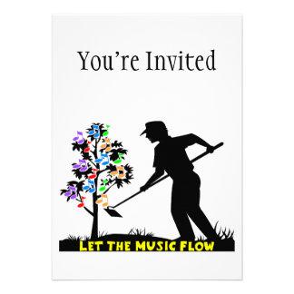 Music Flow Gardener Invitations
