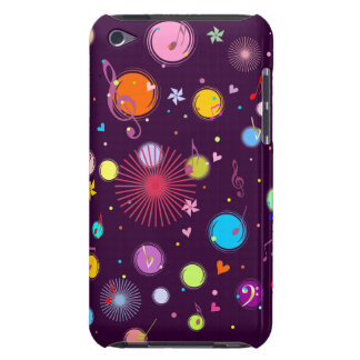 Music (flowers,hearts & dots 1) iPod touch cover