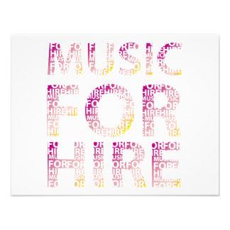 Music For Hire Club Invitations