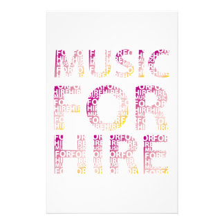Music For Hire Club Stationery