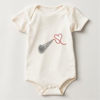 Music for love baby bodysuit