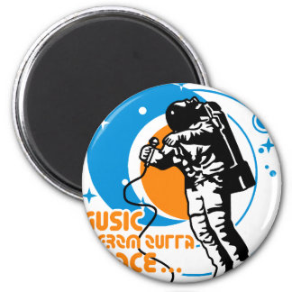 Music from outta Space 6 Cm Round Magnet