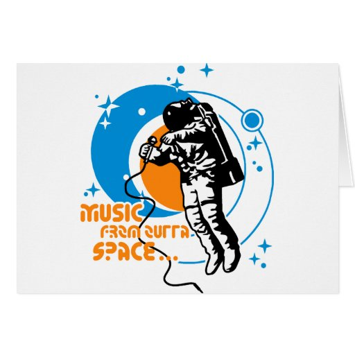 Music from outta Space Cards