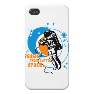 Music from outta Space iPhone 4 Cover