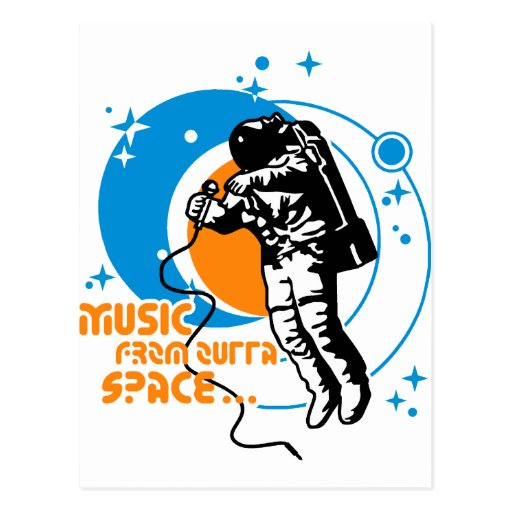 Music from outta Space Post Card