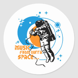 Music from outta Space Round Sticker