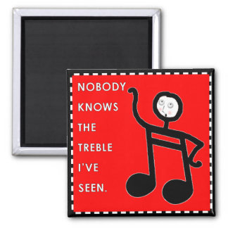 Music Funny Square Magnet
