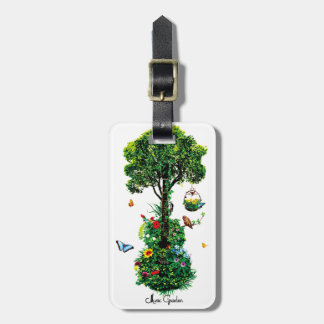 Music Garden (Collage ver.) Luggage Tag