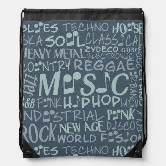 Music Genres Word Collage bag