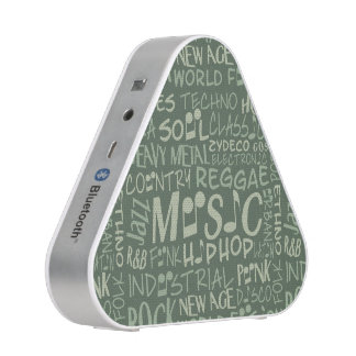 Music Genres Word Collage bluetooth speaker