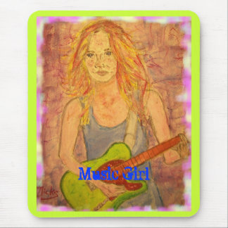 Music Girl Mouse Pad