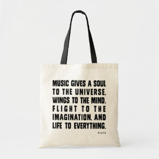 Music Gives A Soul To The Universe Budget Tote Bag