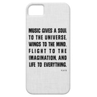 Music Gives A Soul To The Universe iPhone Case iPhone 5 Cover