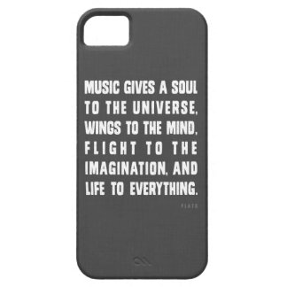 Music Gives A Soul To The Universe iPhone Case iPhone 5 Cases