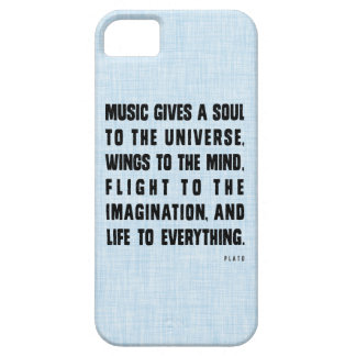 Music Gives A Soul To The Universe iPhone Case
