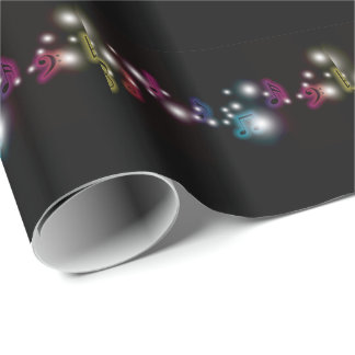 Music Glow Wrapping Paper