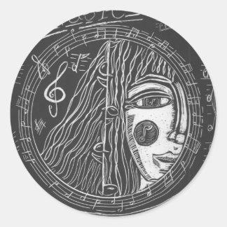 Music Guardian, Hippie Art, Musician, Sticker