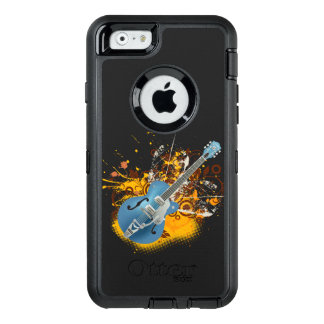 music guitar vintage vector swirl art OtterBox iPhone 6/6s case