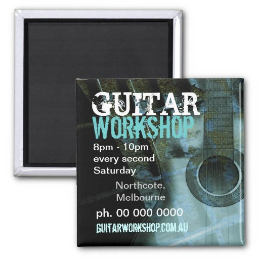 Music Guitar Workshop Promo Magnet