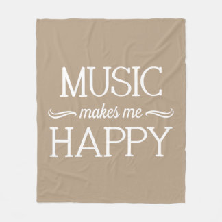 Music Happy Blanket - Assorted Sizes & Colors