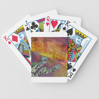 Music have strange connection to nature. bicycle playing cards