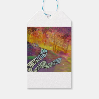 Music have strange connection to nature. gift tags