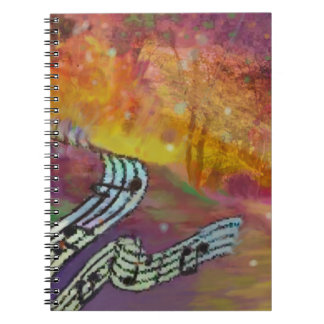 Music have strange connection to nature. spiral notebook
