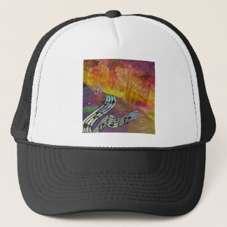 Music have strange connection to nature. trucker hat